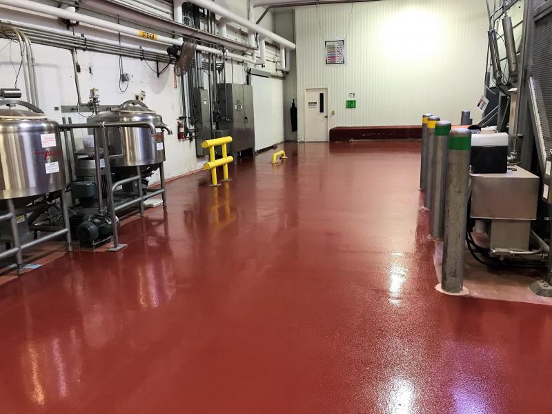 Seamless epoxy flooring header